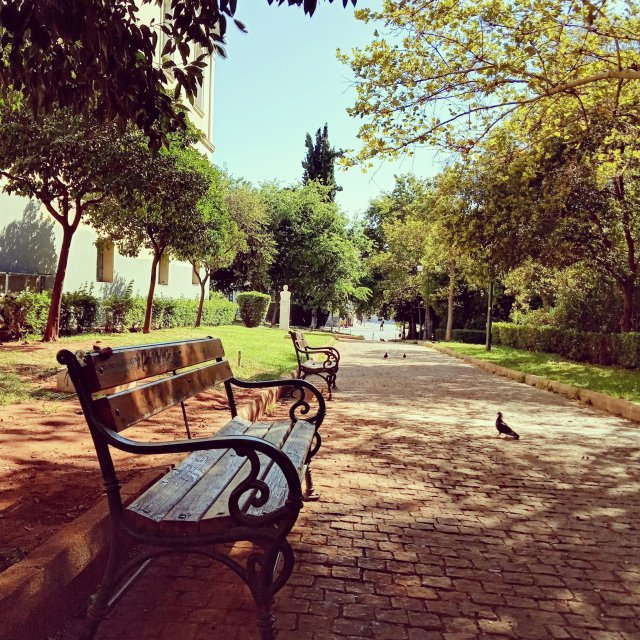 Σκιά στό πάρκο - Shadow in the park
