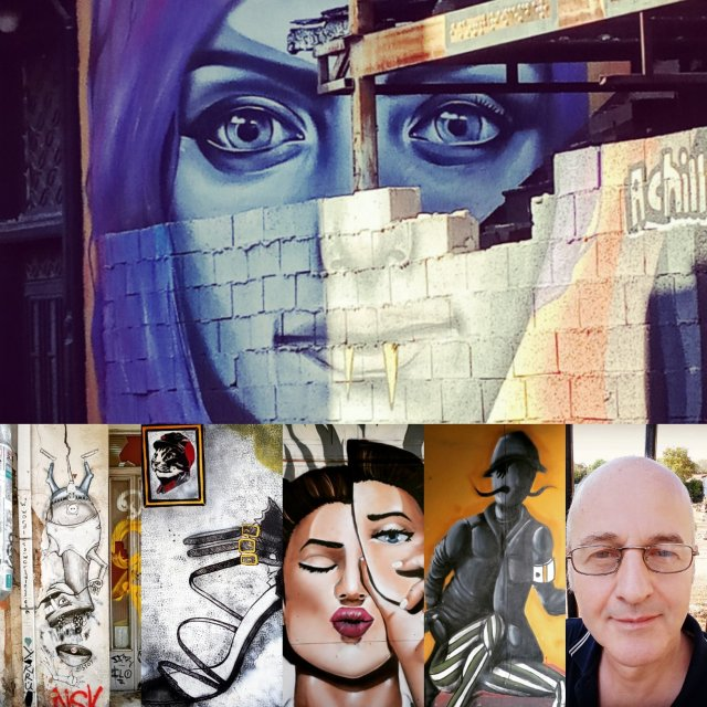 Ποικιλία από διάφορες τοιχογραφίες τής Αθήνας - A variety of different Athens Wall Designs