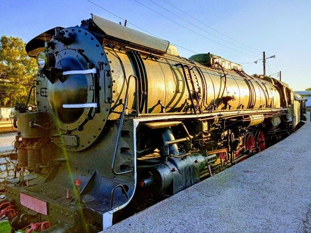 Παλιά ατμομηχανή στο Ρούφ - Old steam engine