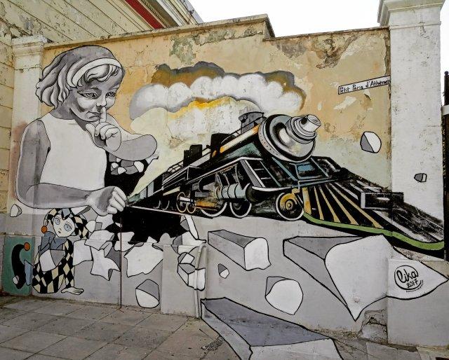 Τοιχογραφία στόν Κολωνό - Athens Wall Design