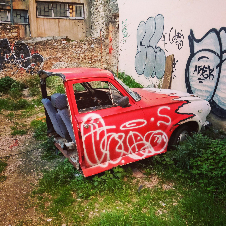 Αφηρημένη τέχνη δρόμου στον Κεραμεικό