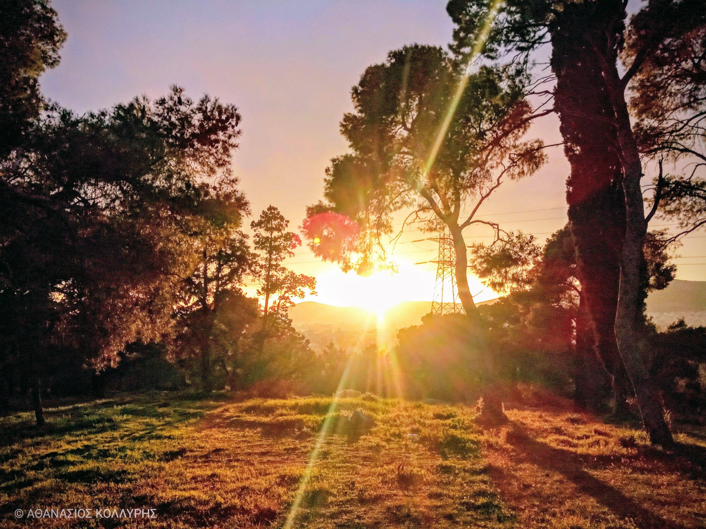 Ηλιοβασίλεμα στο Πάρκο Τρίτση