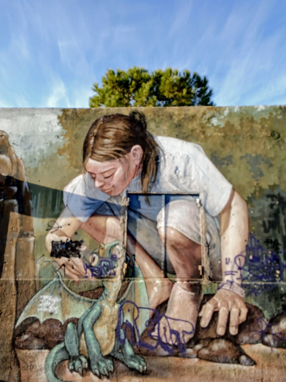 Τοιχογραφία στην Ακαδημία Πλάτωνος - Athens Wall Design